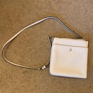 kate spade white polly small swing pack